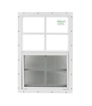 """12"""" x 18"""" White Flush Chicken Coop Window"""