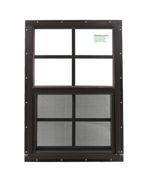 """14"""" x 21"""" Brown J-Channel Window Play House, Tree House and Shed Window"""