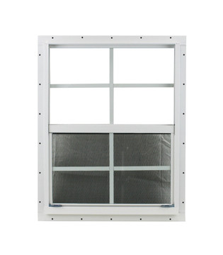 """18"""" x 23"""" White J-Channel Windows Play House, Tree House and Shed Window"""