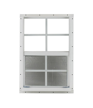 "18"" x 27"" White Flush Windows Play House, Tree House and Shed Window"