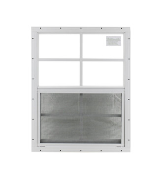 "21"" x 27"" White J-Channel Shed Window"