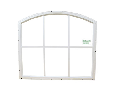 28 x 25 White Flush Arched Window