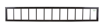 "10"" x 72"" Brown Flush Transom Window"