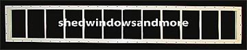 """10"""" x 72"""" White Transom Window"""