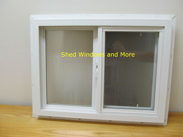 "24"" x 18"" Double Pane Horizontal Sliding Vinyl Window"