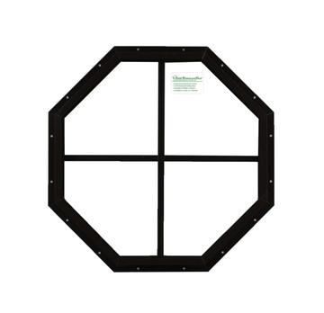 "14"" Brown Flush Octagon Window"