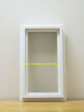 "10"" x 18"" Transom Double Pane Vinyl Windows"