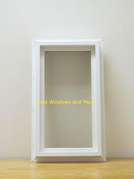 "10"" x 18"" Transom Double Pane Vinyl Windows"
