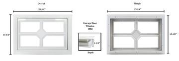 4 Pane Garage Door Window