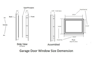 Sunburst Garage Door Window