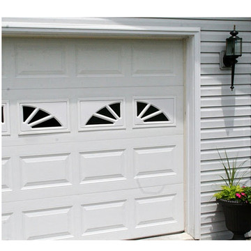 2 Panel Sunburst Garage Door Window