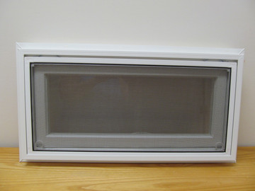 "24"" x 12"" Awning Transom Insulated Glass Vinyl Window"