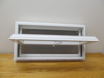 "36"" x 12"" Awning Transom Insulated Glass Vinyl Window"