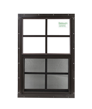 "16"" x 24"" Brown Flush Windows Play House, Tree House and Shed Window"