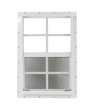 "16"" x 24"" White J-Channel Windows Play House, Tree House and Shed Window"