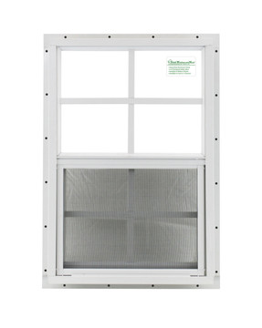 """16"""" x 24"""" White J-Channel Windows Play House, Tree House and Shed Window"""