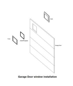 Arched Design Garage Door Window