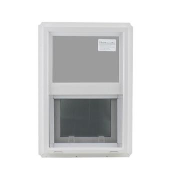 "14"" x 21"" Double Pane Temper/Safety Glass Low-E PVC Frame"