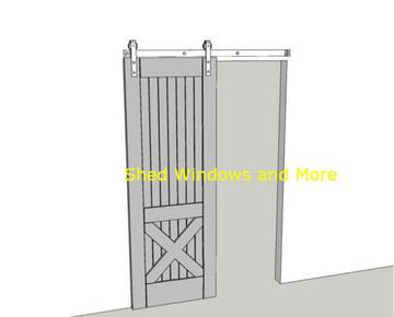 6FT Decorative Sliding Barn Door