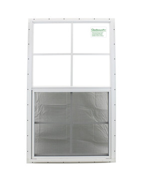 """21"""" x 36"""" White J-Channel Playhouse Window with Safety Glass"""
