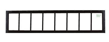 "10"" x 48"" Brown Flush Transom Window"
