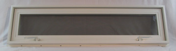 "42"" x 12"" Awning Transom Insulated Glass Vinyl Window"
