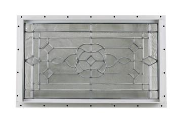 "24"" x 14"" Decorative Cut Glass Flush Mount Shed Window"