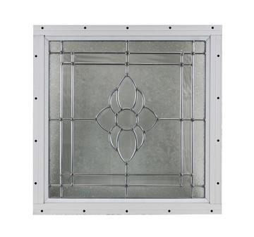"16"" x 16"" Decorative Cut Glass Flush Mount Window"