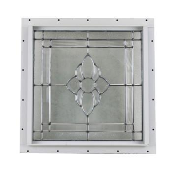 "16"" x 16"" Decorative Cut Glass J-Channel Mount Window"