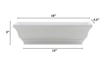"18"" Decorative PVC Flower Box"