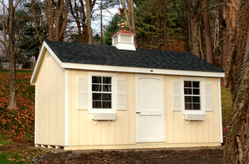 "30"" Vinyl Vented Cupola with Hip Roof"