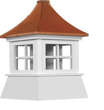 "21"" Vinyl Window Cupola with Pagoda Roof"