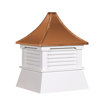 "21"" Vinyl Vented Cupola with Pagoda Roof"
