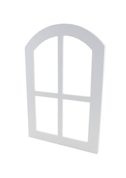 """12"""" x 18"""" PVC Arched Window with Acrylic Glass Front"""