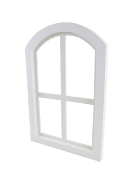 "12"" x 18"" PVC Arched Window with Acrylic Glass Back"