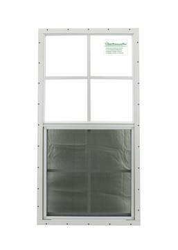 "18"" x 36"" White Flush Windows Play House, Tree House and Shed Window"