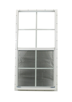 """18"""" x 36"""" White Flush Windows Play House, Tree House and Shed Window"""