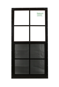 """18"""" x 36"""" Brown Flush Windows Play House, Tree House and Shed Window"""