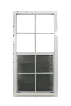 """18"""" x 36"""" White J-Channel Windows Play House, Tree House and Shed Window"""
