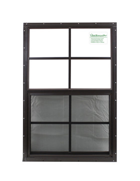 "20"" x 30"" Brown Flush Shed Window"