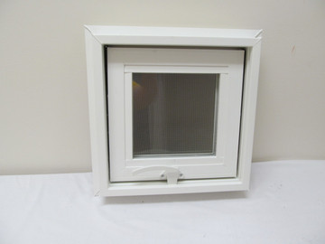 "12"" x 12"" Awning Transom Insulated Glass Vinyl Window"