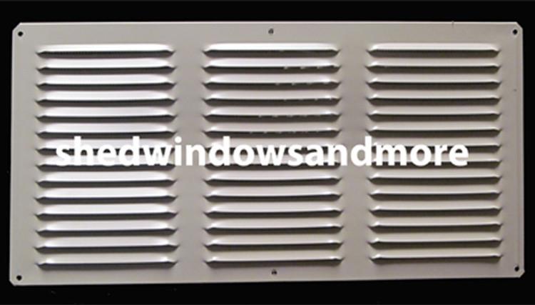 8x16 White  Aluminum Exhaust Vent