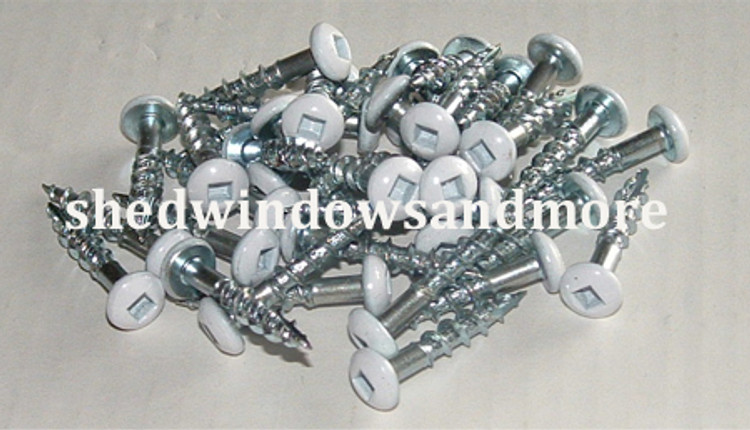 White Window Screws #8 x 1-1/4""