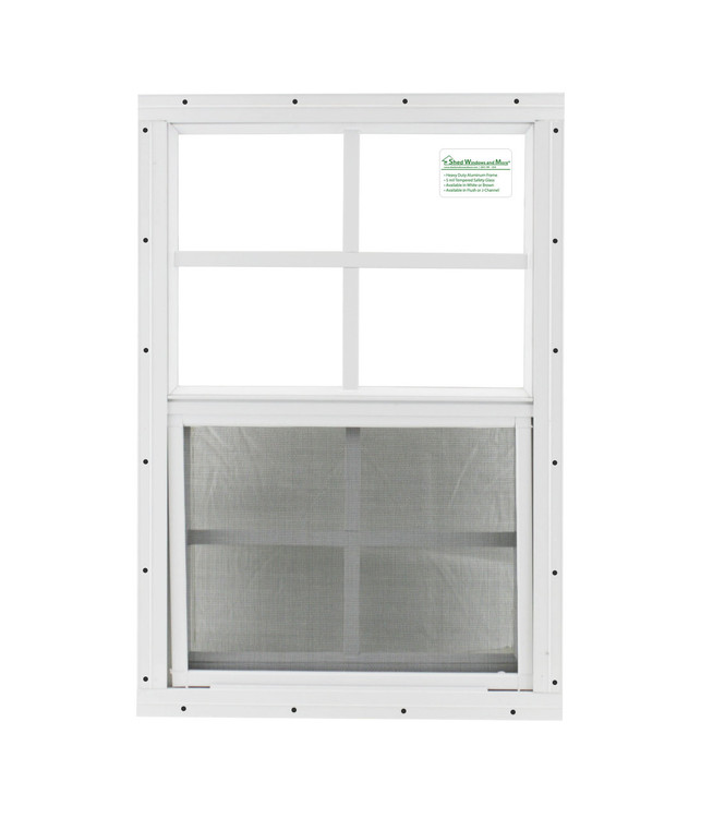 "12"" x 18"" White Flush Chicken Coop Window"