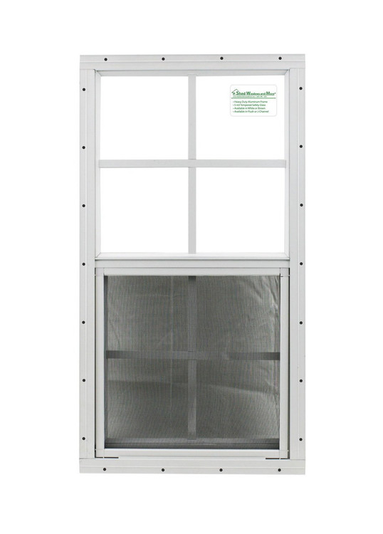 "14"" x 27"" White Flush Windows Play House, Tree House and Shed Window"