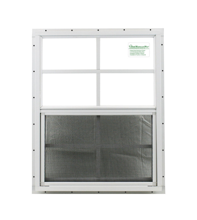 "21"" x 27"" White Flush Shed Window"
