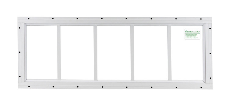 "10"" x 30"" White Flush Transom Window"