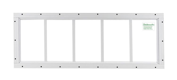 "10"" x 30"" White Flush Transom Window"