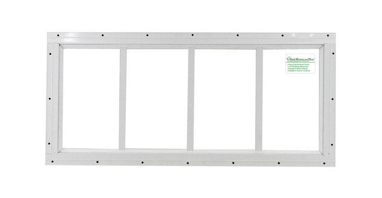 "10"" x 24"" White Flush Transom Window"