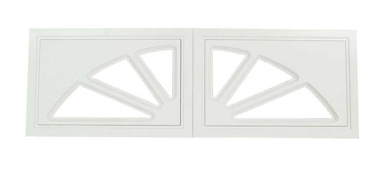 Garage Door Window 2 Panel Sunburst Design (1009)